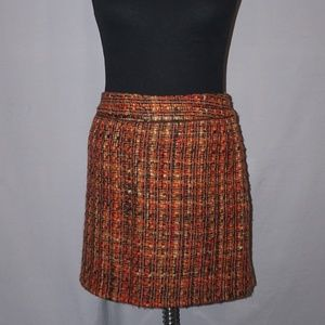 Outback Red Wool Plaid Mini Skirt - Size 12